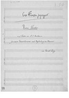 Zwei Lieder auf Texte von O. J. Bierbaum für Tenor und Klavierbegleitung: Zwei Lieder auf Texte von O. J. Bierbaum für Tenor und Klavierbegleitung by Ernst Levy
