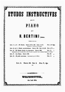Fünfundzwanzig charakteristische Etüden, Op.66: Cah.3 No.18-25 by Henri-Jérôme Bertini