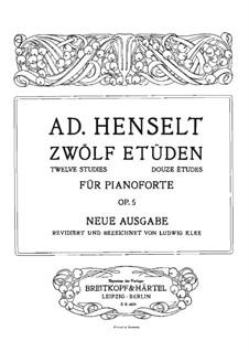 Douze Etudes de Salon, Op.5: Vollsammlung by Adolf von Henselt