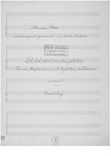Ich hab soviel um dich gelitten für eine Baritonstimme mit Klavierbegleitung: Ich hab soviel um dich gelitten für eine Baritonstimme mit Klavierbegleitung by Ernst Levy