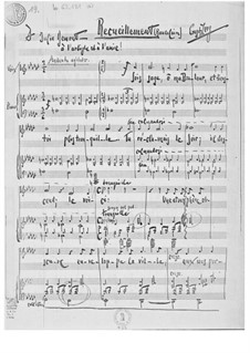 Recueillement für Alt oder Bariton und Klavier: Recueillement für Alt oder Bariton und Klavier by Ernst Levy