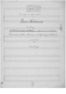 Die Augen des Tages verloschen für eine mittlere Stimme mit Klavierbegleitung: Die Augen des Tages verloschen für eine mittlere Stimme mit Klavierbegleitung by Ernst Levy