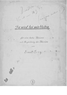 Du wirst bei mir bleiben für eine hohe Stimme mit Klavierbegleitung: Du wirst bei mir bleiben für eine hohe Stimme mit Klavierbegleitung by Ernst Levy