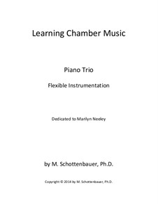 Learning Chamber Music: Piano trio for flexible instrumentation by Michele Schottenbauer