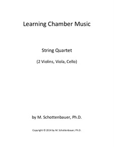 Learning Chamber Music: String quartet by Michele Schottenbauer