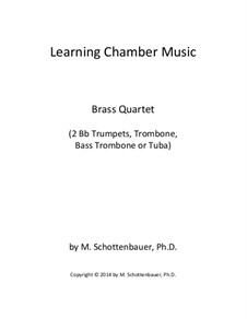 Learning Chamber Music: Brass quartet by Michele Schottenbauer