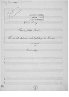 Unser totes Kind für eine hohe Stimme mit Begleitung des Klaviers: Unser totes Kind für eine hohe Stimme mit Begleitung des Klaviers by Ernst Levy