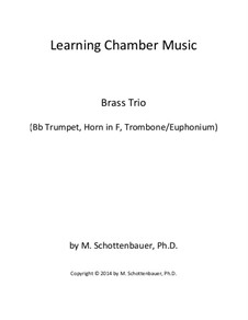 Learning Chamber Music: Brass trio by Michele Schottenbauer