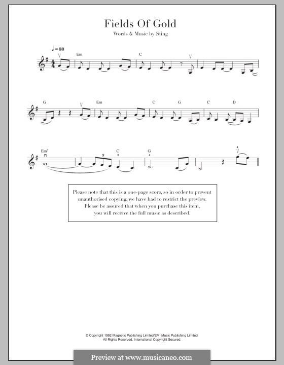 Fields of Gold: Für Violine by Sting