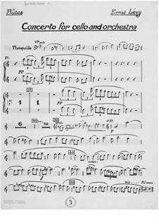 Konzert für Cello mit Orchester: Stimmen by Ernst Levy