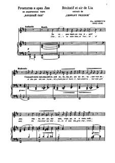 Der verlorene Sohn, L.57: Récitatif et air de Lia by Claude Debussy