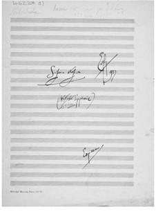 Sinfonie Nr.6 'Sinfonia strofica': Skizzen by Ernst Levy