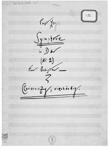 Sinfonie Nr.2: Klavierauszug, vierhändig by Ernst Levy