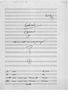 Kantate Nr.3 'Lötschentaler' für Cantus firmus, gemischten Chor und Orchester: Vollpartitur by Ernst Levy