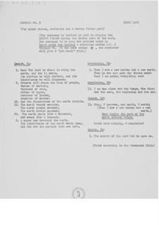 Kantate Nr.3 'Lötschentaler' für Cantus firmus, gemischten Chor und Orchester: Texts mit Noten für den Cantus firmus by Ernst Levy
