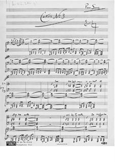 Kantate Nr.3 'Lötschentaler' für Cantus firmus, gemischten Chor und Orchester: Skizzen by Ernst Levy