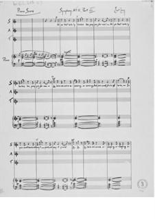 Sinfonie Nr.12 'Kammersinfonie': Klavierauszug by Ernst Levy