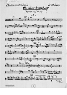 Sinfonie Nr.12 'Kammersinfonie': Stimmen by Ernst Levy
