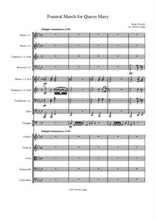 Anthem für die Trauerfeier der Königin Maria, Z.860: March by Henry Purcell