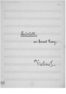 Streichquintett in c-Moll: Stimmen by Ernst Levy