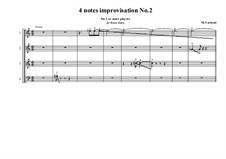 4 notes idea for improvisation: Nr.2, MVWV 798B by Maurice Verheul
