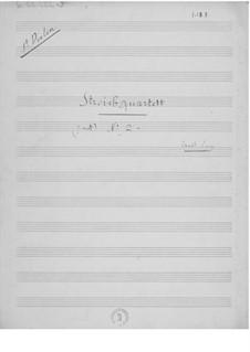 Streichquartett Nr.2 in g-Moll: Stimmen by Ernst Levy