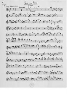 Eins und Alles für Bariton und Streichorchester: Orchesterstimmen by Ernst Levy
