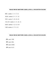 Magic Music Cards: Teacher's large size Rhythm: Magic Music Cards: Teacher's large size Rhythm by Joan Yakkey