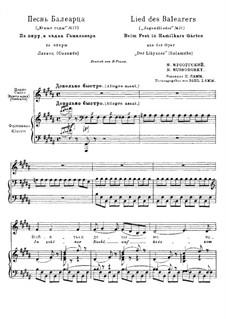 Salammbô (The Libyan): Lied eines Mannes von den Balearen für Stimme und Klavier by Modest Mussorgski