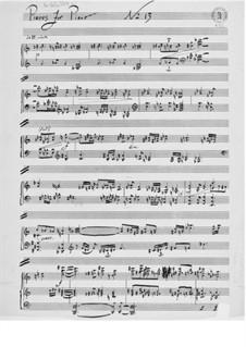 Klavierstück Nr.13: Klavierstück Nr.13 by Ernst Levy