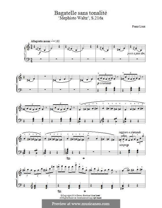 Waltz No.4, S.216a: Für Klavier by Franz Liszt