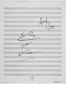 Sechs Stücke für Clavichord: Sechs Stücke für Clavichord by Ernst Levy