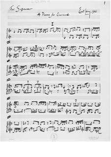 Vier Stücke für Clavichord: Vier Stücke für Clavichord by Ernst Levy