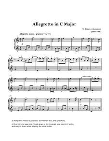Allegretto in C-Dur: Für Klavier by Nikolai Rimsky-Korsakov