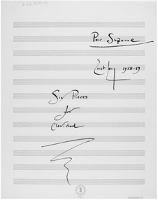 Sechs Stücke für Clavichord (Pour Susanne): Sechs Stücke für Clavichord (Nr.1-6) by Ernst Levy