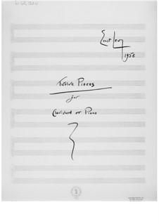 Zwölf Stücke für Clavichord oder Klavier: Für einen Interpreten by Ernst Levy