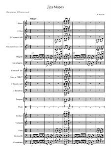 Nr.12 Knecht Ruprech: Orchestration – score by Robert Schumann