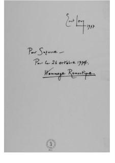 Hommage romantique (Pour Suzanne): Hommage romantique (Pour Suzanne) by Ernst Levy