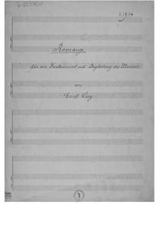 Romanze für ein Instrument mit Klavierbegleitung: Partitur by Ernst Levy