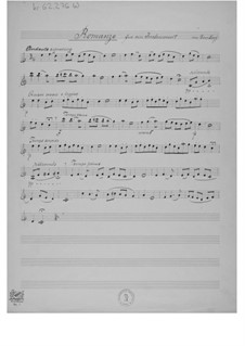 Romanze für ein Instrument mit Klavierbegleitung: Solostimme by Ernst Levy