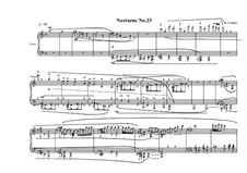 Nocturne No.23 for piano, MVWV 802: Nocturne No.23 for piano by Maurice Verheul