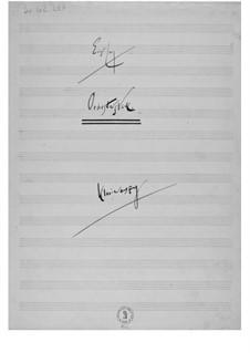Orchesterstück: Klavierauszug by Ernst Levy