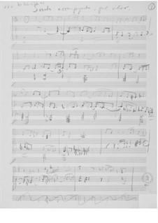 Sonata accompagnata für Violine und Klavier: Skizzen by Ernst Levy
