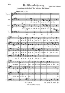 Der Klonschafgesang: For mixed choir (SATB) by folklore