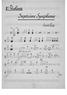 Sinfonie Nr.7: Streicherstimmen by Ernst Levy