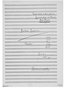 Sinfonie Nr.10 'France': Vollpartitur by Ernst Levy