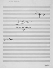 Orchestersuite über eine alte Volkshymne: Particell by Ernst Levy