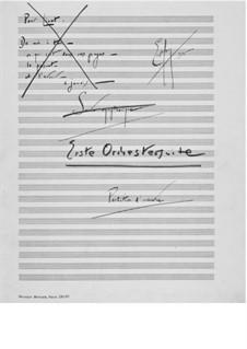 Suite für Orchester Nr.1 : Vollpartitur by Ernst Levy