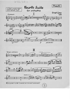 Suite für Orchester Nr.4: Stimmen by Ernst Levy