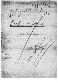 Präludium festum für Orgel: Präludium festum für Orgel by Ernst Levy